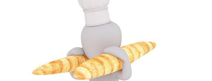 porteur de baguettes fraiches